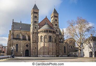 Saint Servatius church at the Vrijthof in Maastricht,...