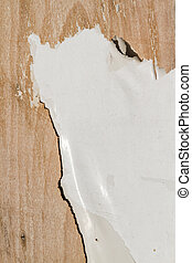 Worn out Material - Worn out paper, painted area over wooden...