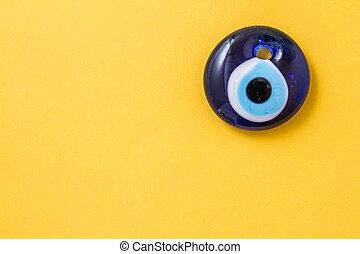 Evel Eye Bead - Evel eye bead, Turkish traditional amulet on...