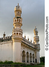Qutb Shahi Tombs in Hyderabad, India - Minaret at the Great...