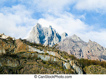 Mountain Peak in Torres del Paine National Park in...