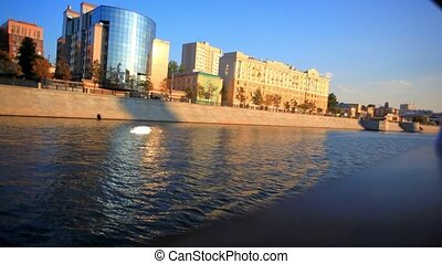 Tour on sunny day across Moscow, Russia. HD. 1920x1080 -...