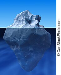 ice berg - 3d rendered illustration of an ice berg