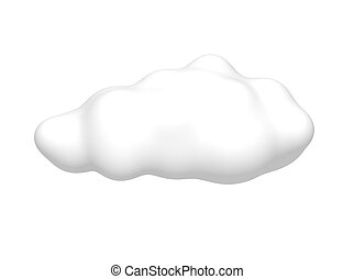 Cloud isolated on white. 3d rendered illustration.