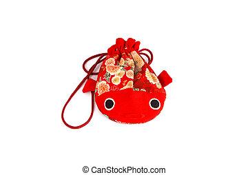 Red fish bag