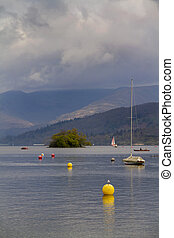 Lake Windermere in the lake District England