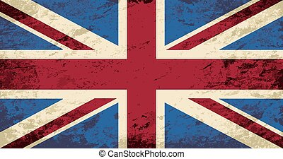 Great Britain flag Grunge background Vector illustration