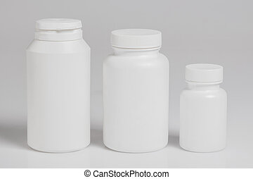 Jars with food supplements - Jars with different food...