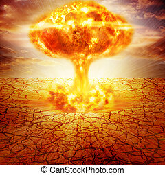 Nuclear explosion - Huge nuclear explosion