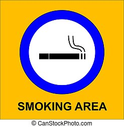 smoking area sign illustration