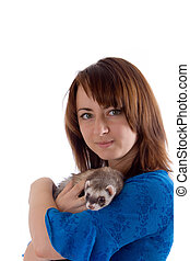 girl and polecat
