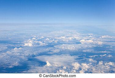 cumulus clouds - White cumulus clouds seen from above