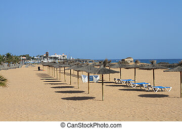 Fuerteventura Canary Islands spain a beautiful Beach view