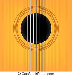vector guitar sound hole background. Vertical variant.