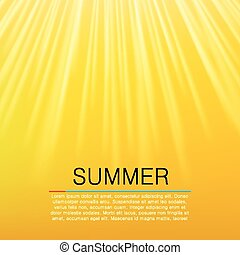 Warm yellow sun beam Summer concept Vector illustration