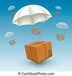 air parcels on a white background - 3d air parcels on a