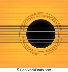 vector guitar sound hole background. Horizontal variant.