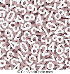 Numbers background colorful - endlessly