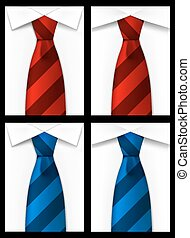 Tie red blue background art Vector illustration