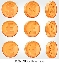 Coin in different angles