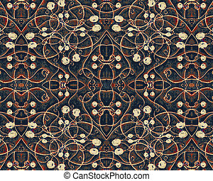 Filigree Refined Pattern - Elegant and fancy digital art...