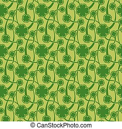 St Patrick day seamless pattern - Vector illustration of St...