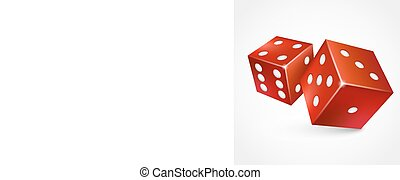 Game dices isolated on white background.