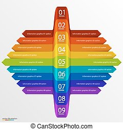 Arrows business growth rainbow art Vector illustration