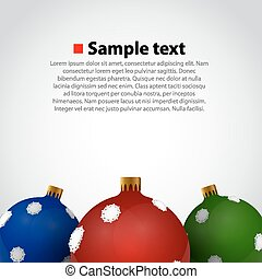 Christmas toys. Background. - Colorful christmas toys on...