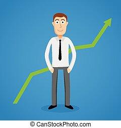 滿足, 圖表, 成長, 事務, 人