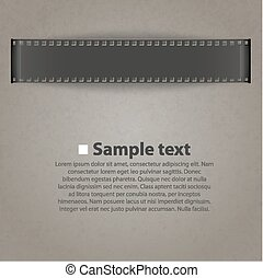 Vector film strip background illustration