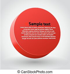 Red three dimensions sircle. - Vector illustration of red...