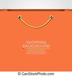 Empty bag background Shopping concept Vector illustration