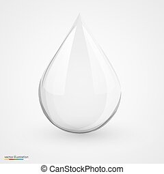 Water drop on white isolated.