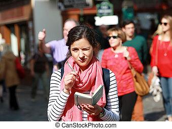 Student girl on Montmartre in Paris