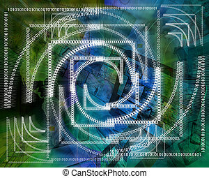 background binary code - Abstract background in the form of...