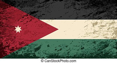 Jordan flag Grunge background Vector illustration