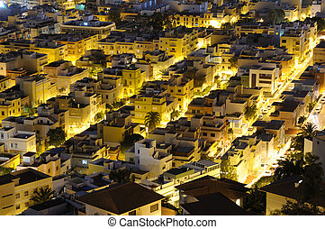 Santa Cruz de Tenerife at night. Canary Islands, Spain