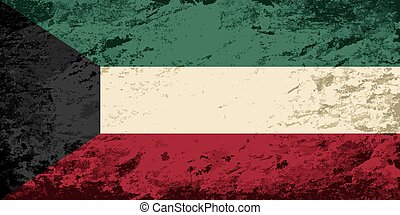 Kuwait flag Grunge background Vector illustration Eps 8