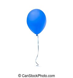 Blue balloon icon isolated on white background.