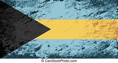 Bahamian flag Grunge background. Vector illustration Eps 8.