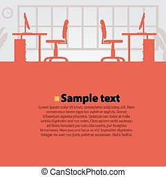 Office workplace vector bright background Vector...