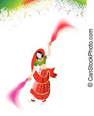 holi background with traditional
