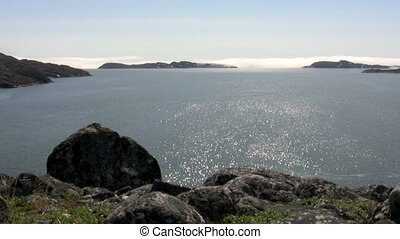 Ocean view south of Nuuk - A look over the ocean south of...