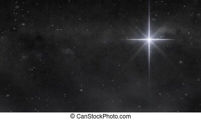 Star of Wonder HD Loop - Large star glows against a...