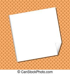 White sheet on Seamless terracota roof tile - White sheet on...