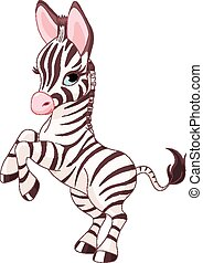Cute baby zebra - Illustration of very cute baby zebra