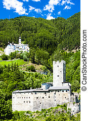 Monte Maria Abbey and castle near Burgusio, Trentino-Alto...