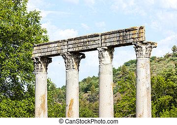 close up of Roman Temple, Riez, Provence-Alpes-Cote dAzur,...