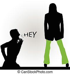 man and woman vector silhouette